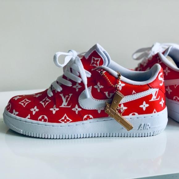 Nike Air Force 1 one Supreme X LV custom sneaker NWT